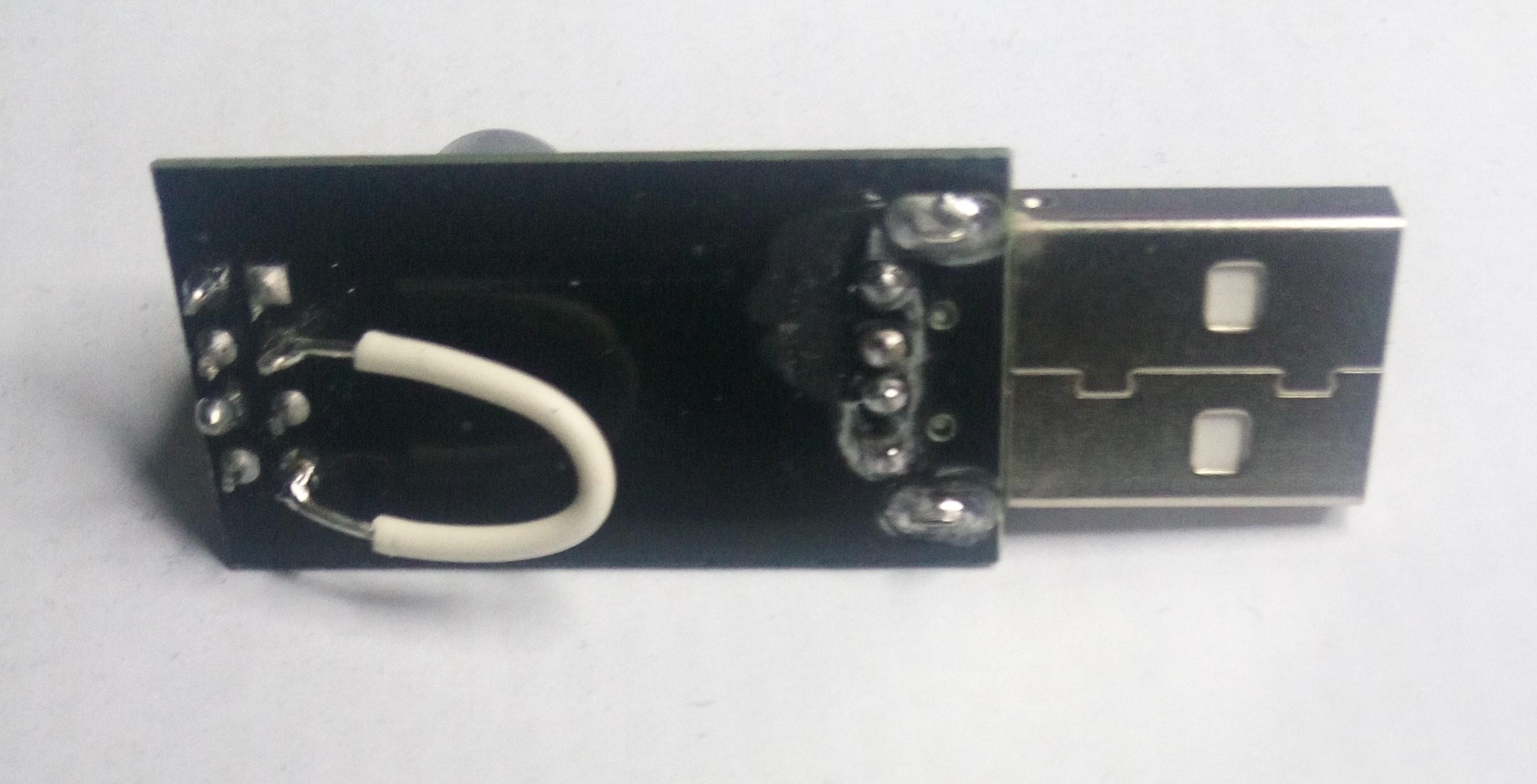 Detalle del cable soldado