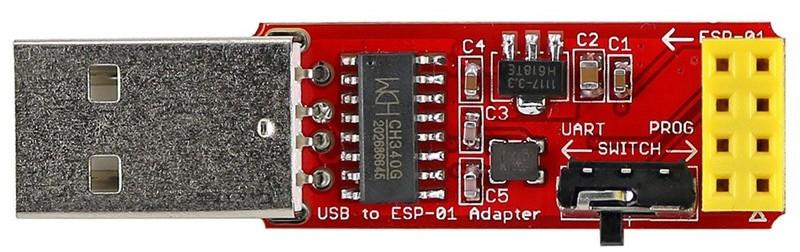 Adaptador USB con interrumpor de programacion