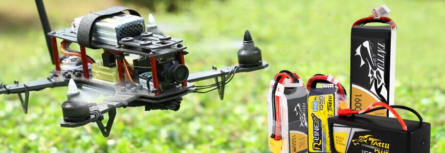 Dron y baterías