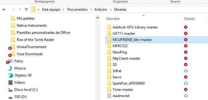 Seleccionando ficheros en las librerias