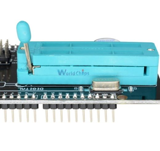 Detalle de la palanca de carga del Shield AVR ISP