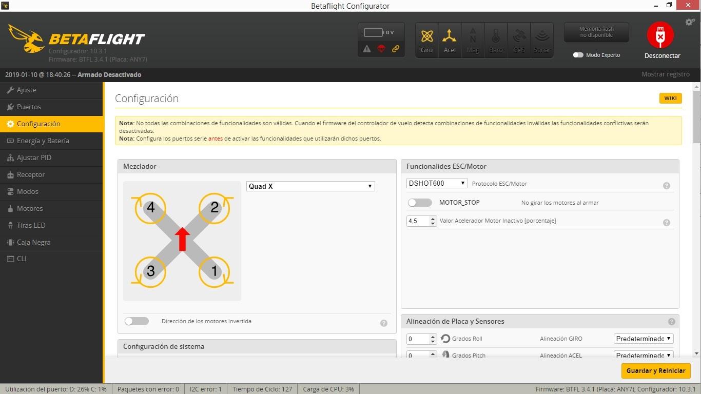 Configuracion Betaflight