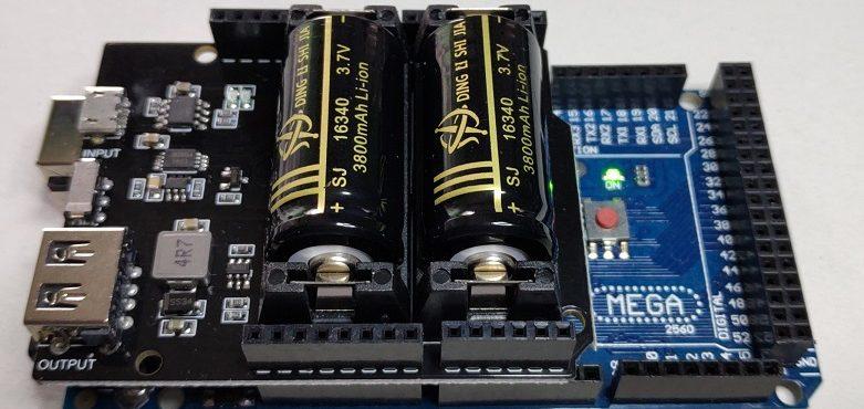 Vista con las baterias instaladas