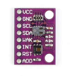 Imagen frontal del modulo sensor