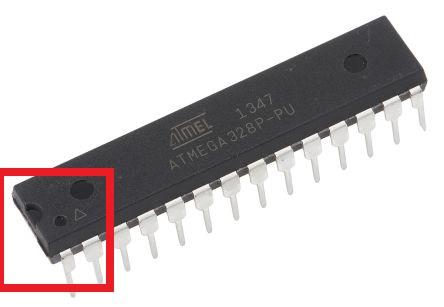 Detalle de la marca o pin 1