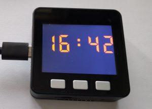 Mostrando el reloj con fuente TTF