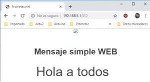 Pagina del servidor web