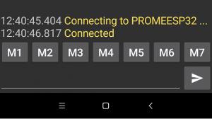 Mensaje de conexion