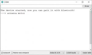 COnsola rduino con Bluetooth