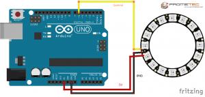 Conexion neopixel arduino