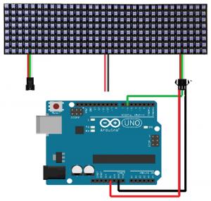 Conexion arduino uno con panel neopixel