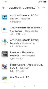 Buscando en android store