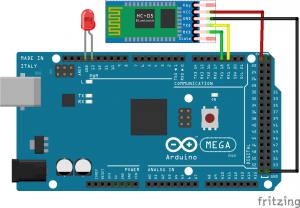 Conexion Arduino con BT y LED